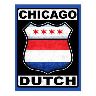Escudo americano holandés de Chicago Tarjeta Postal