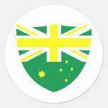 Escudo australiano de la bandera pegatina redonda