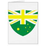 Escudo australiano de la bandera tarjetas