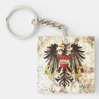 Escudo austríaco llavero cuadrado acrílico a doble cara