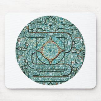 Escudo azteca del mosaico tapetes de ratones