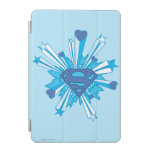 Escudo azul con los corazones cover de iPad mini