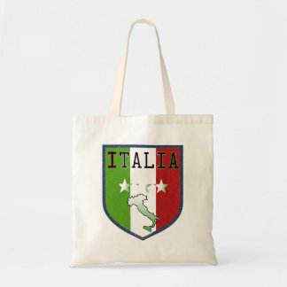 Escudo azul de Italia Bolsa Tela Barata