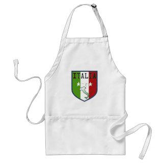 Escudo azul de la bandera de Italia que cocina el