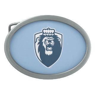 Escudo azul grande de los monarcas - azul hebilla cinturon oval