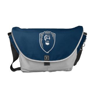 Escudo azul grande de los monarcas bolsas de mensajeria