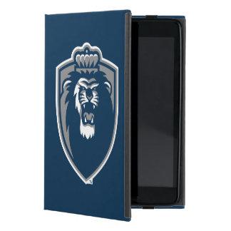 Escudo azul grande de los monarcas iPad mini protectores