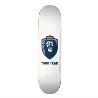 Escudo azul grande de los monarcas patineta personalizada