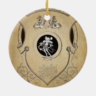 Escudo banal del caballero del ratón del vintage ornamento de reyes magos