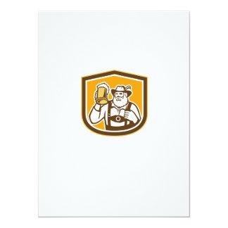 Escudo bávaro de la taza del bebedor de cerveza anuncio personalizado