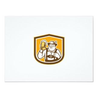 Escudo bávaro de la taza del bebedor de cerveza comunicado personalizado