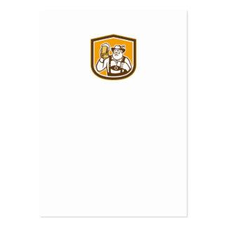 Escudo bávaro de la taza del bebedor de cerveza re plantilla de tarjeta de visita