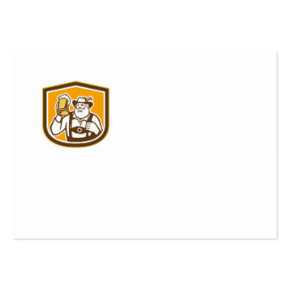 Escudo bávaro de la taza del bebedor de cerveza re plantillas de tarjeta de negocio