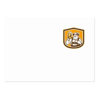 Escudo bávaro de la taza del bebedor de cerveza re tarjeta de negocio