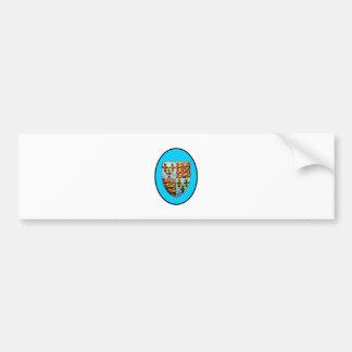 Escudo BG ciánica de la iglesia de Inglaterra Cant Pegatina De Parachoque