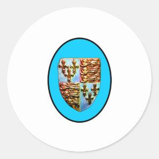 Escudo BG ciánica de la iglesia de Inglaterra Pegatina Redonda