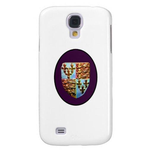 Escudo BG púrpura de la iglesia de Inglaterra Cant Funda Para Galaxy S4