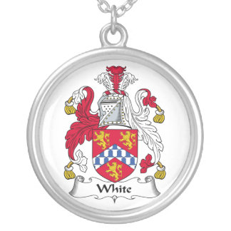Escudo blanco de la familia colgante redondo