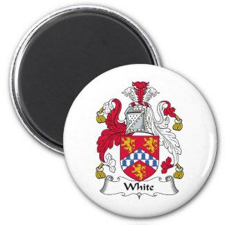 Escudo blanco de la familia imán redondo 5 cm