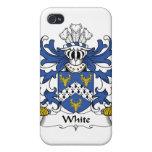 Escudo blanco de la familia iPhone 4 cárcasa