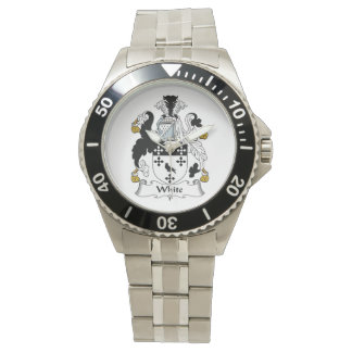 Escudo blanco de la familia relojes