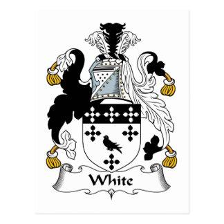 Escudo blanco de la familia tarjeta postal