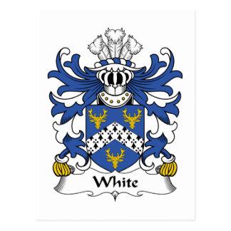 Escudo blanco de la familia tarjetas postales