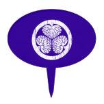 Escudo blanco de Tokugawa apenado Decoraciones Para Tartas