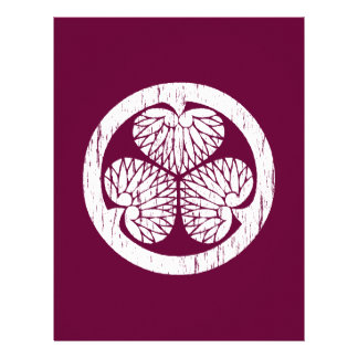 Escudo blanco de Tokugawa apenado Membretes Personalizados
