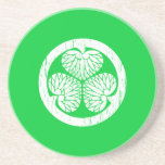 Escudo blanco de Tokugawa apenado Posavasos Cerveza