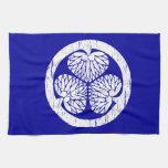 Escudo blanco de Tokugawa apenado Toalla