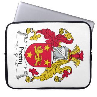 Escudo bonito de la familia funda portátil
