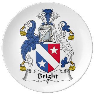 Escudo brillante de la familia platos de cerámica
