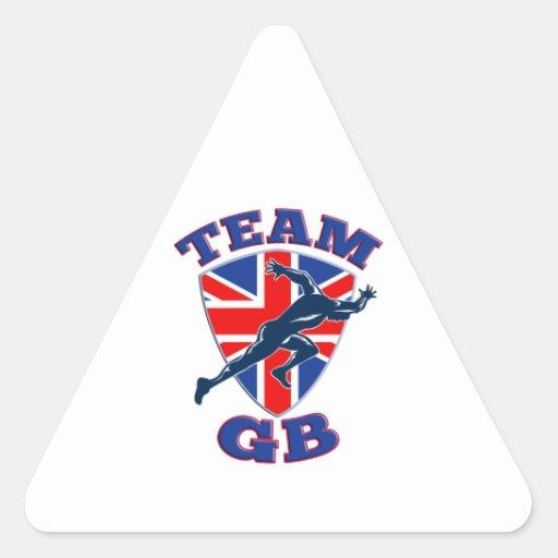 Escudo británico de la bandera del comienzo del pegatina trianguladas personalizadas