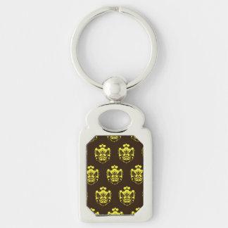 Escudo Brown amarillo de la familia Llavero Plateado Rectangular