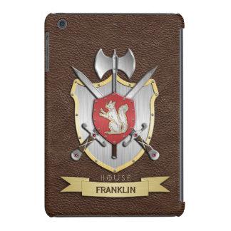 Escudo Brown de la batalla de Sigil de la ardilla Fundas De iPad Mini