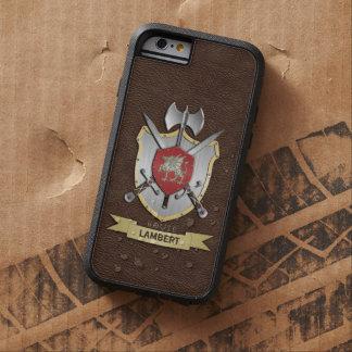 Escudo Brown de la batalla de Sigil del dragón Funda De iPhone 6 Tough Xtreme