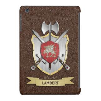 Escudo Brown de la batalla de Sigil del dragón Funda Para iPad Mini Retina