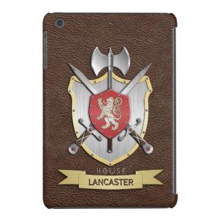 Escudo Brown de la batalla de Sigil del león Fundas De iPad Mini Retina