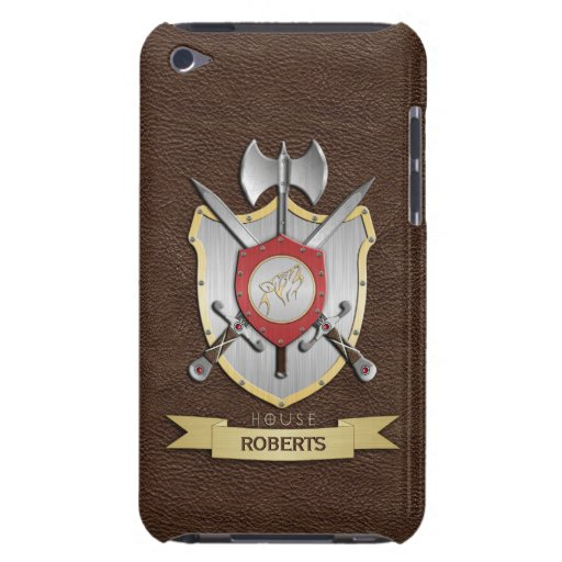 Escudo Brown de la batalla de Sigil del lobo del Barely There iPod Protector