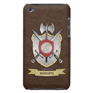 Escudo Brown de la batalla de Sigil del lobo del g Barely There iPod Protector
