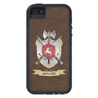 Escudo Brown de la batalla de Sigil del macho iPhone 5 Carcasas