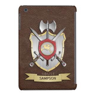 Escudo Brown de la batalla de Sigil del pingüino Funda De iPad Mini