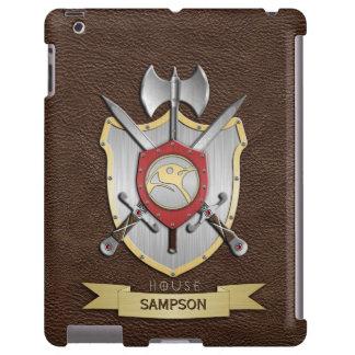 Escudo Brown de la batalla de Sigil del pingüino Funda Para iPad