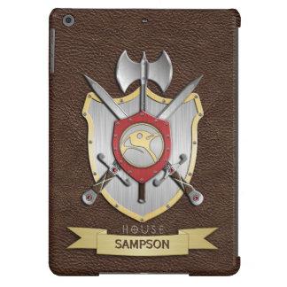 Escudo Brown de la batalla de Sigil del pingüino Funda Para iPad Air