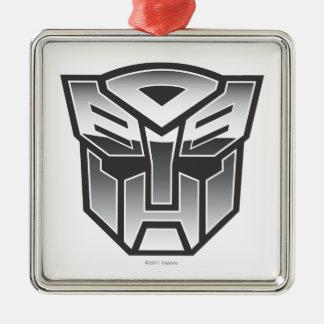 Escudo BW de G1 Autobot Adorno Cuadrado Plateado