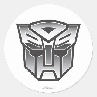 Escudo BW de G1 Autobot Pegatina Redonda