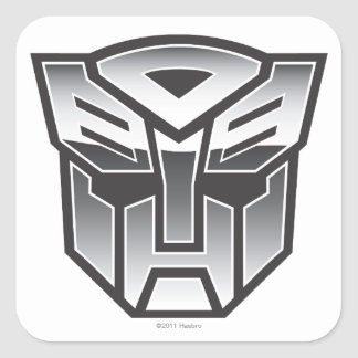Escudo BW de G1 Autobot Calcomanía Cuadradas Personalizada