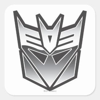 Escudo BW de G1 Decepticon Calcomanías Cuadradass Personalizadas
