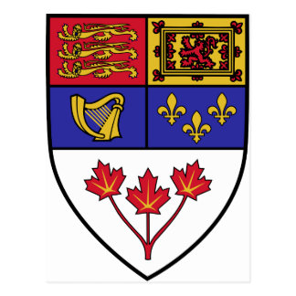 Escudo canadiense, Canadá Postales